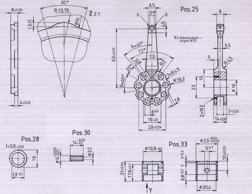 radial and v12 scale engines